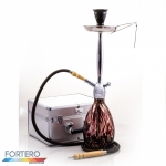 Shisha Prestige Koffer Egg Brown Chrome